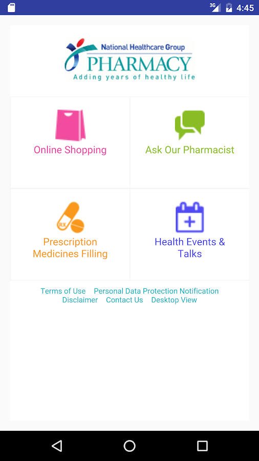 NHG Pharmacy- screenshot