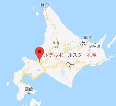 地図:Dining & Bar 179・ホテルポールスター札幌レストラ