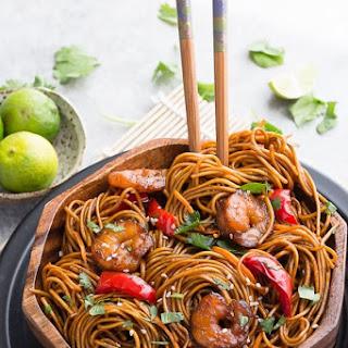 Shrimp Stir-Fry Lo Mein Noodles.