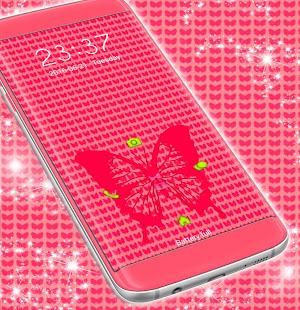 Butterfly Pink téma - Locker - náhled