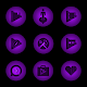 Radial Glow Purple Icons Download on Windows