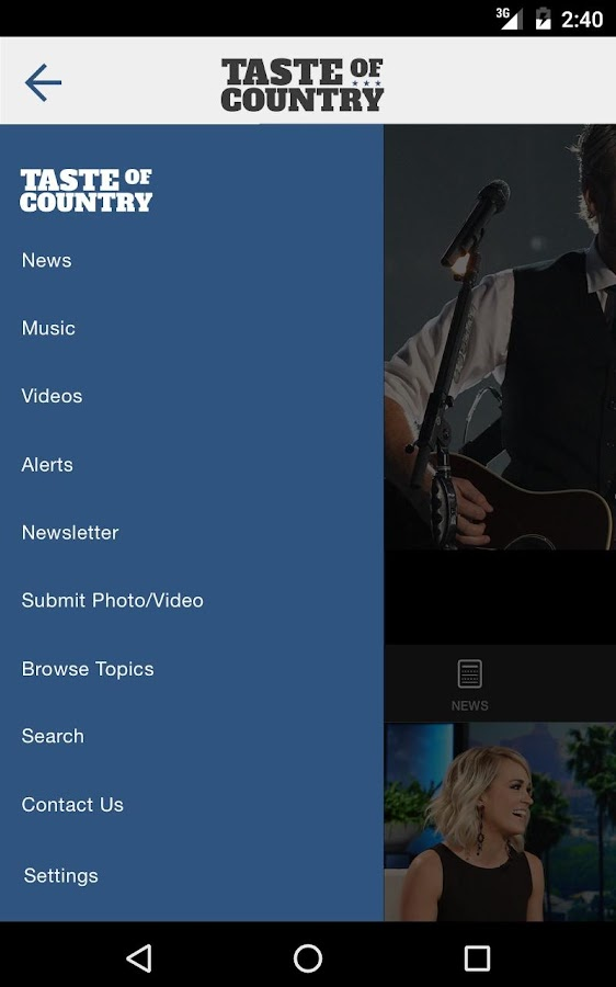 Taste of Country - Latest Country Music News- screenshot