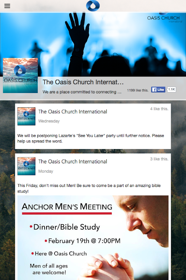 Oasis Church International- screenshot