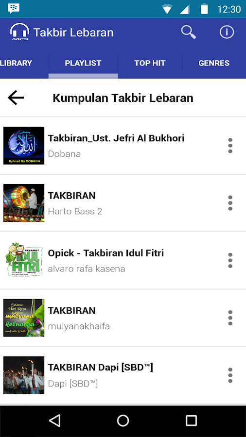 Mp3 Takbir Lebaran 2016 Full- screenshot