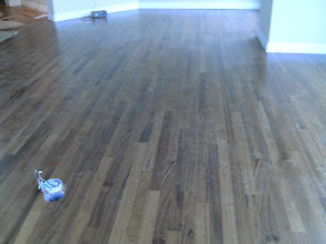 Photo: large view of hardwood flooring installation