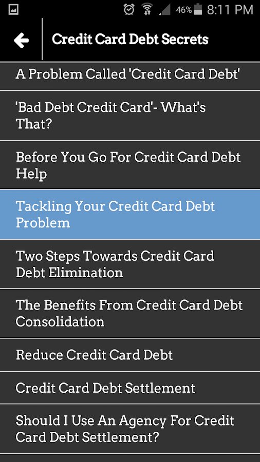 Fix Your Credit Card Debt- screenshot