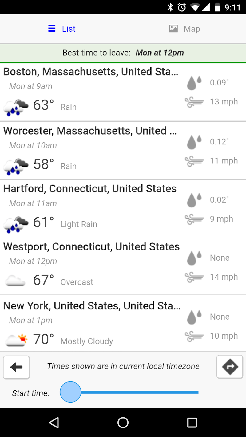 Weather Route Screenshot 1