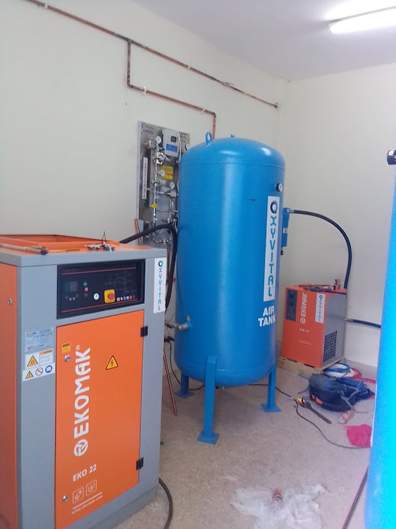 Oxygen plant at Busia County Referral Hospital.