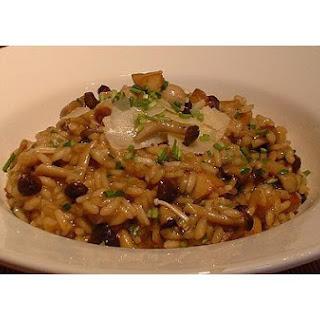 Mushroom and Parmesan Cheese Risotto