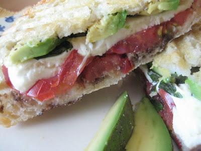 Pressed Mozzarella, Tomato and Fresh Basil Sandwich Recipe | Yummly
