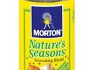 NOTES: Morton Nature's Seasons is a seasoned salt that is just wonderful, personally in...