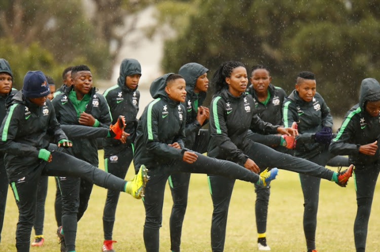 General view during the South African national womens soccer team training session at Nelson Mandela University on September 06, 2018 in Port Elizabeth, South Africa.