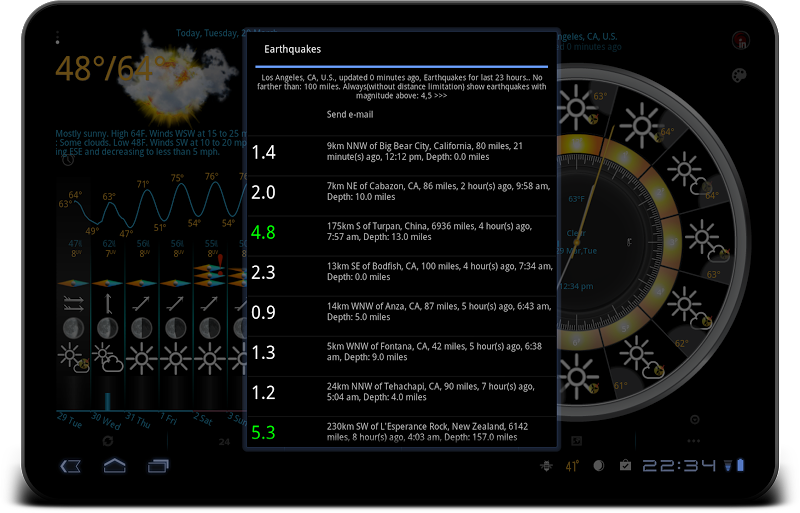 eWeather HD - weather, hurricanes, alerts, radar Screenshot 14