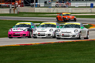 Photo: This is a three part story - first three wide through the exit of the corner...