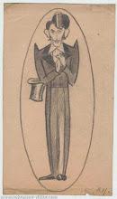 Photo: Автошарж В. Некрасова. ВПН в роли Фердинанда «Мачеха» Бальзака, карандаш, 10 х 17 см, 1938
