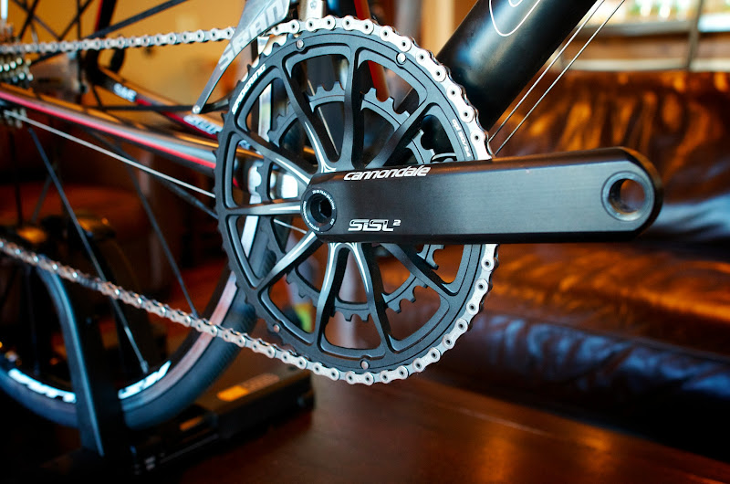 Photo: At Press Camp 12, Cannondale introduced a new bike for women, at the high end with a cool crank.