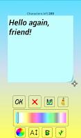 Screenshot of Sticker widget