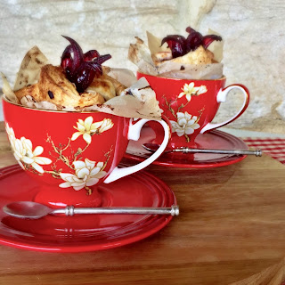Wild Hibiscus and Apple Pastry Cups.