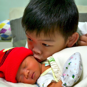 Love his Brother by Gandi Tan - Babies & Children Babies