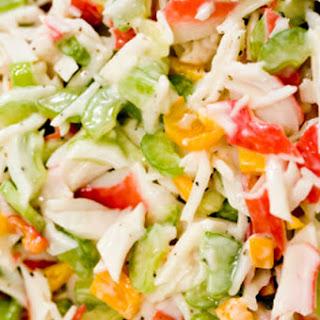 Simple Cold Crab Salad.