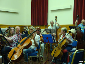 Photo: The Newton Abbot Orchestra tuning up for their wonderful concert to raise funds for bespk. Thanks yo' all
