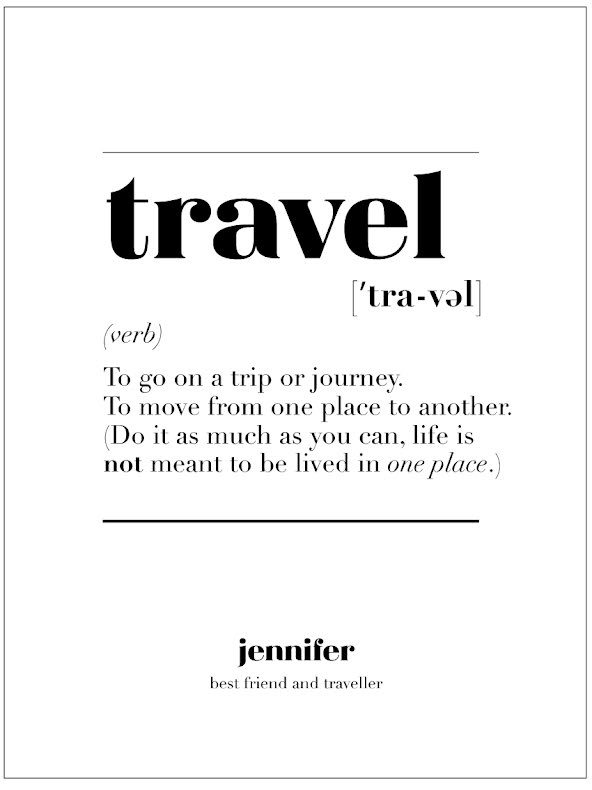 TRAVEL IS