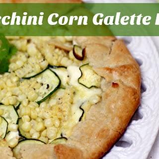Cheesy Zucchini Corn Summer Galette