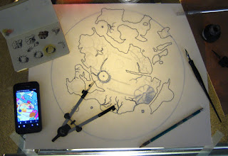 Photo: A snapshot illustrating some of my process for this one