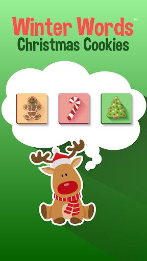 Winter Words Christmas Cookies