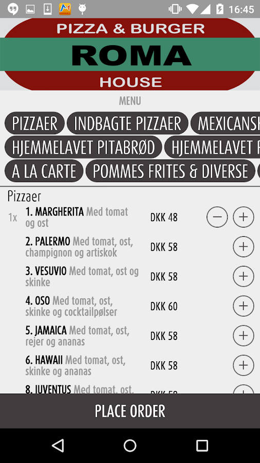 ROMA Pizza & Burger - Østerbro- screenshot