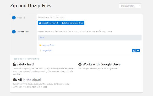 Zip & Unzip Files - G Suite Marketplace