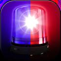 Police lights and sirens joke icon