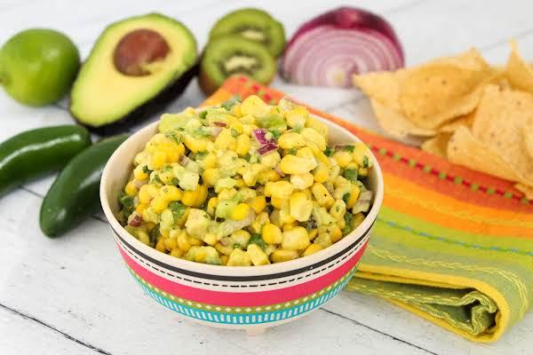 A Bowl Of Fresh Corn Salsa.