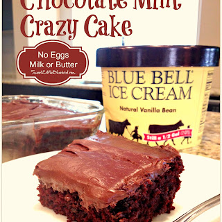 Chocolate Mint CRAZY CAKE (NO EGGS, MILK, BUTTER)