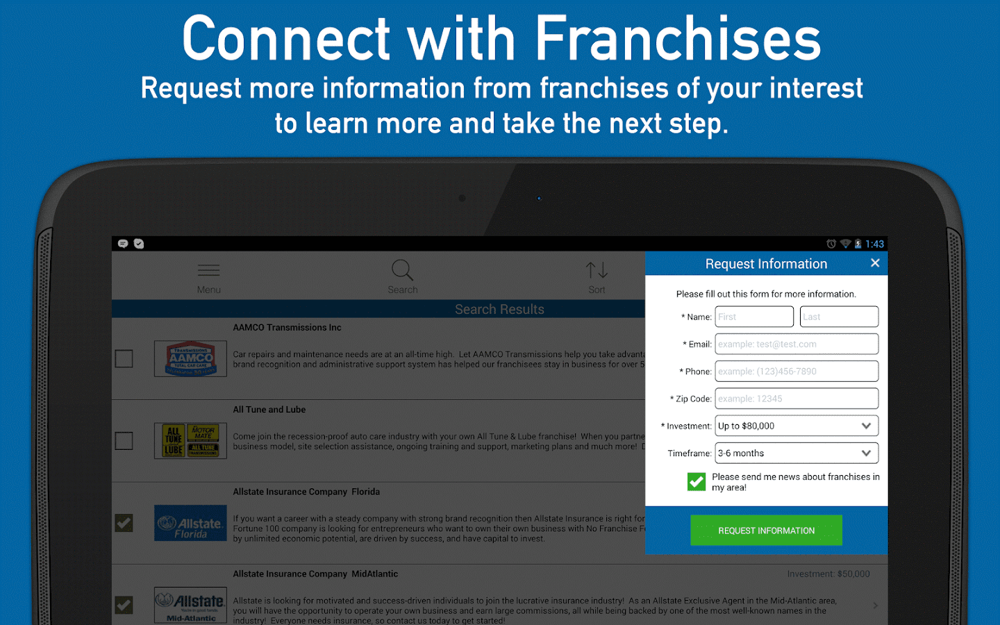 Find Franchises for Sale- screenshot