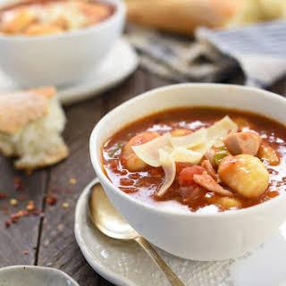 Turkey & Gnocchi Arrabiata Soup.