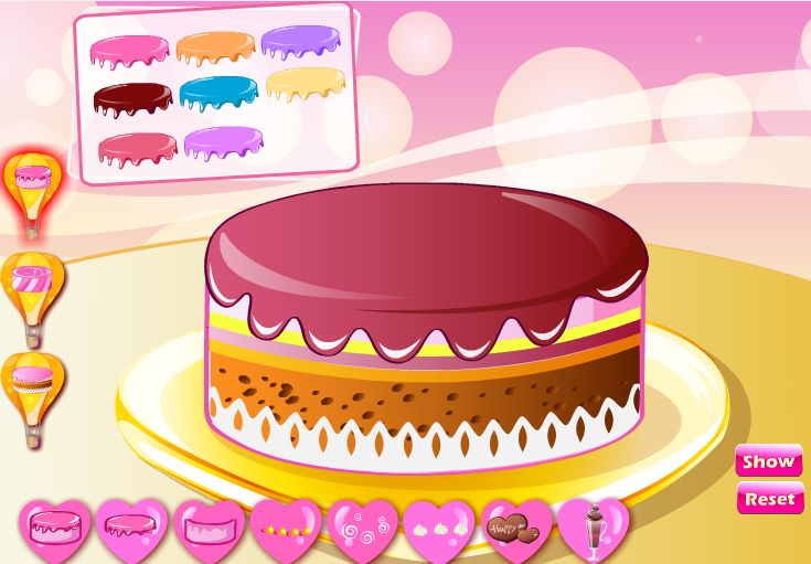 HOT girl cake games attractively