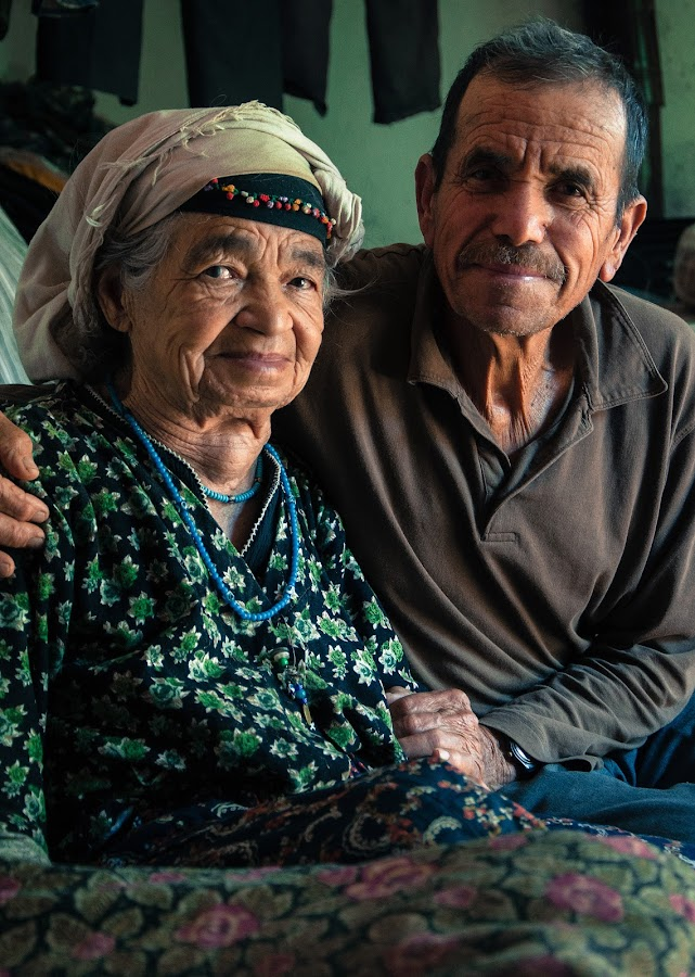 Old happy Turkish couple by Kai Sairanen - People Couples ( love, ethnic, village people, happy, mediterranean, senior group, old couple, traditional, bozburun, turkish )