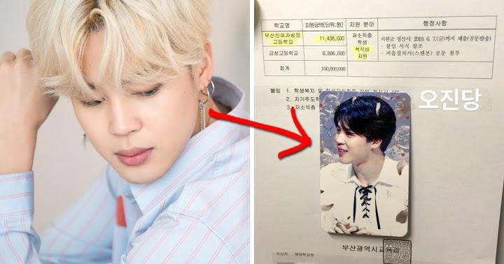 BTS Jimin donating to Busan