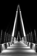 Photo: Cupertino Bridge at Night @ Cupertino, CA - http://photo.leptians.net