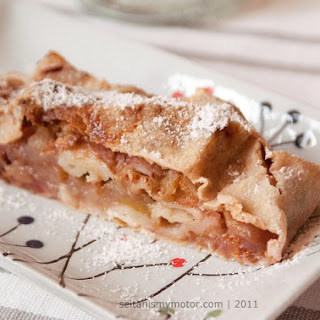 Apple Fig Strudel with Pistachios.