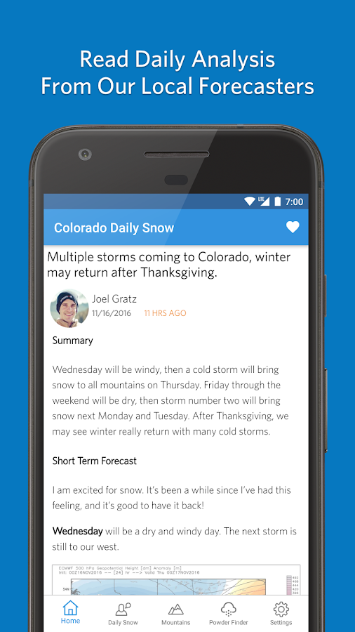 Open Snow Ski Forecasts- screenshot
