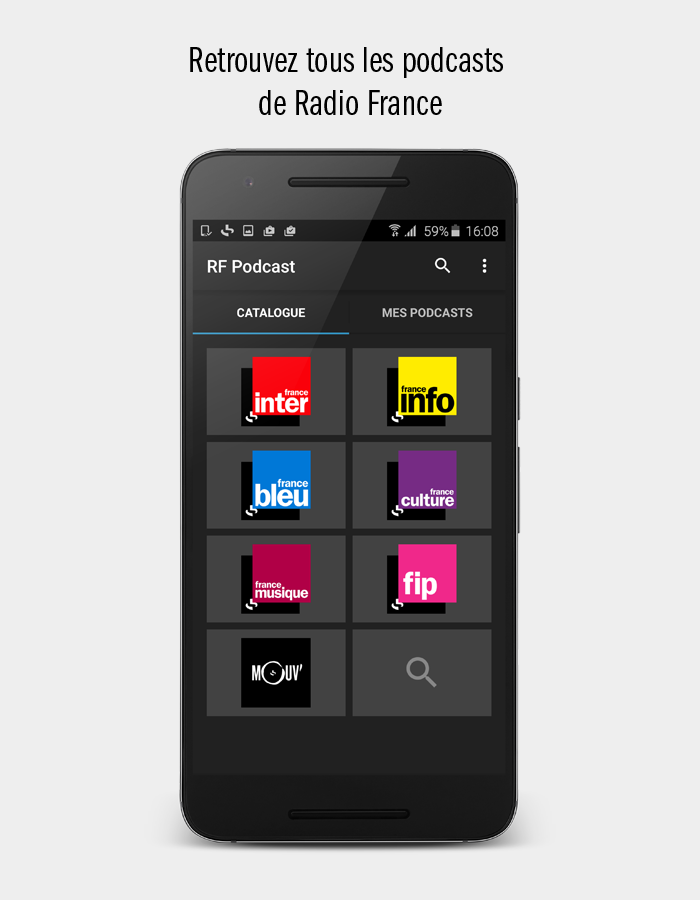 radio france podcast applications android sur google play. Black Bedroom Furniture Sets. Home Design Ideas