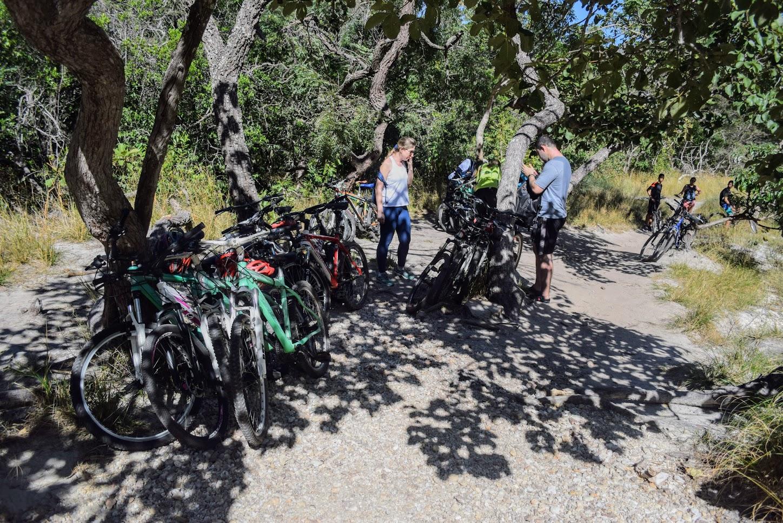 Local próximo à Cachoeira da Farofa onde se deixa as bicicletas
