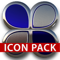Blue silver glas icon pack HD icon
