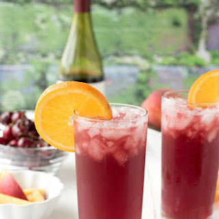 Summer Solstice Wine Cocktail.