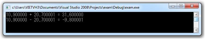 Kết quả sử dụng libTest.lib