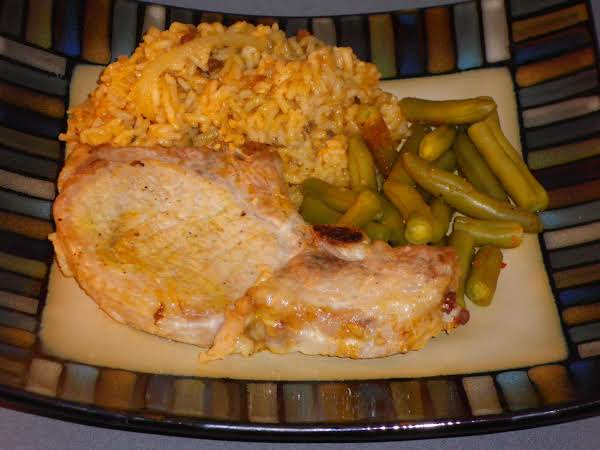 Apple Pork Chops And Rice