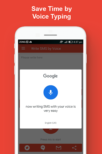 Write SMS by Voice: Audio Messages into Text App Mod Apk Latest