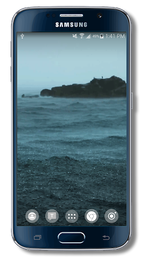 Rain on Bay Live Wallpaper